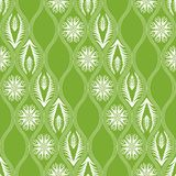 Seamless floral pattern in japanese style Royalty Free Stock Photo