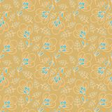 Seamless  floral pattern in japanese style Stock Photos