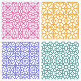 Seamless floral pattern in korean stencil style Royalty Free Stock Photo