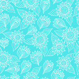 Seamless floral pattern with lace ornament Stock Images