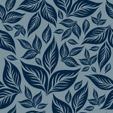 Seamless floral pattern with leafs Stock Image