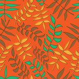 Seamless floral pattern with leafs Stock Photo