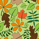 Seamless floral pattern with leafs Royalty Free Stock Photos