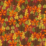 Seamless floral pattern with leafs Stock Photography