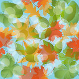 Seamless floral pattern with leaves. Vector illustration Stock Photography