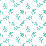 Seamless floral pattern with leaves. Natural background. Abstract seamless background. Vector illustration Stock Photo
