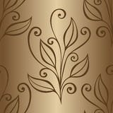 Seamless Floral Pattern with Leaves vector illustration