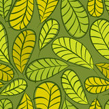 Seamless floral pattern, leaves seamless background Stock Photography