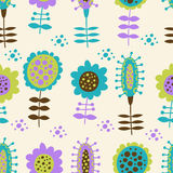 Seamless floral pattern on a light background. For textiles, interior design, for book design, website background Stock Image