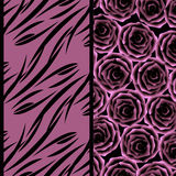 Seamless floral pattern  on lilac background Stock Photo