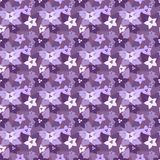 Seamless floral pattern in lilac colors Royalty Free Stock Photography