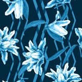 Seamless floral pattern lilies. Stock Photos