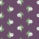 Seamless floral pattern with lily of the valley Royalty Free Stock Photography
