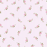 Seamless floral pattern with little flowers pink roses Stock Photos