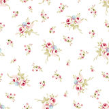 Seamless floral pattern with little red roses Stock Photography