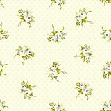 Seamless floral pattern with little white roses Stock Images