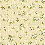 Seamless floral pattern with little white roses Stock Photo