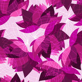 Seamless floral pattern with lotus Stock Image