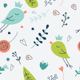 Seamless  floral pattern. Love illustration of cute  flowe Stock Photography