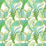 Seamless floral pattern with magnolia blossom Royalty Free Stock Photo