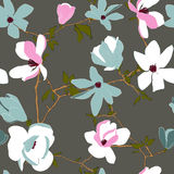 Seamless pattern with magnolia Stock Image