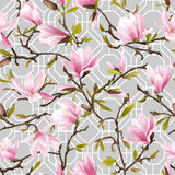 Seamless Floral Pattern. Magnolia Flowers Royalty Free Stock Image