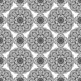 Seamless, floral pattern of mandalas. Stock Photography