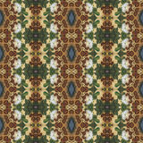 Seamless floral pattern, oil painting Royalty Free Stock Photography