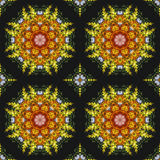 Seamless floral pattern, oil painting Stock Images