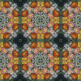 Seamless floral pattern, oil painting Stock Photography