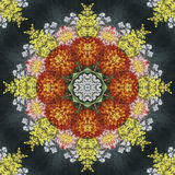 Seamless floral pattern, oil painting Stock Photos
