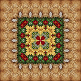 Seamless floral pattern, oil painting Stock Image