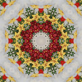 Seamless floral pattern, oil painting Royalty Free Stock Photo