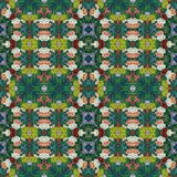 Seamless floral pattern, oil painting Stock Photo