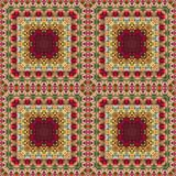Seamless floral pattern, oil painting Royalty Free Stock Photos