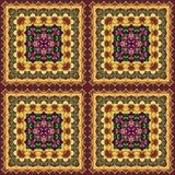 Seamless floral pattern, oil painting Royalty Free Stock Images