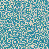 Seamless Floral Pattern On Uniform Background Royalty Free Stock Photo