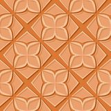 Seamless floral pattern. Orange 3d designs. Vector illustration Vector Illustration