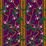 Seamless floral pattern with orchides Royalty Free Stock Photography