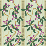 Seamless floral pattern with orchides Royalty Free Stock Image