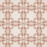 Seamless floral pattern. Seamless pattern with ornate florid elements in brown and rose pink shades Royalty Free Stock Photos