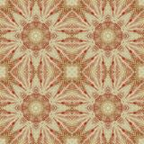 Seamless floral pattern paintings on fabric Royalty Free Stock Images