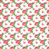 Seamless floral pattern paper wallpaper Stock Image