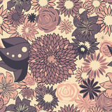 Seamless floral pattern in pastel colors Royalty Free Stock Images