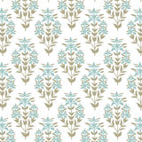 Seamless floral pattern. Pastel damask flower background. Tile wrapping paper texture. Hand drawn vector illustration Stock Image