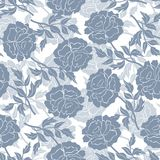 Seamless floral pattern with peonies Stock Photography
