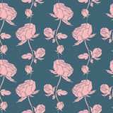 Seamless Floral Pattern With Peonies Royalty Free Stock Image