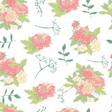 Seamless floral pattern with peony. Royalty Free Stock Photography