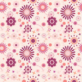 Seamless floral pattern in pink Royalty Free Stock Photo