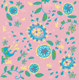 Seamless floral pattern pink royalty free stock photography